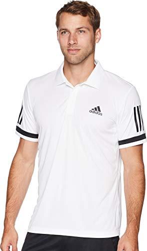 adidas  Men's Tennis Club 3-Stripe Polo White Medium - Adidas Tennis Mens Edge
