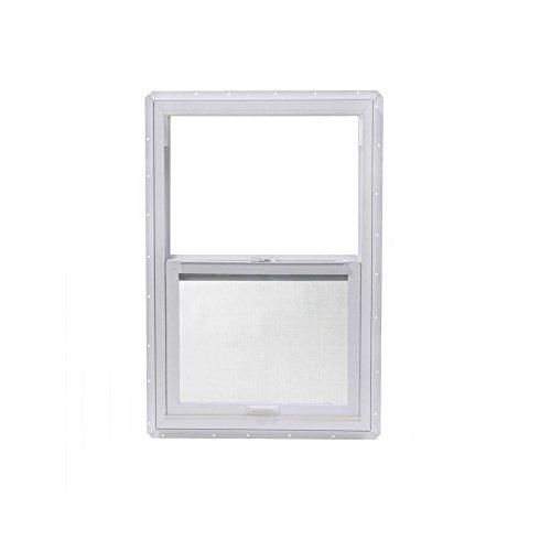 TAFCO 23.5 in. x 35.5 in. Single Hung Vinyl Window - White