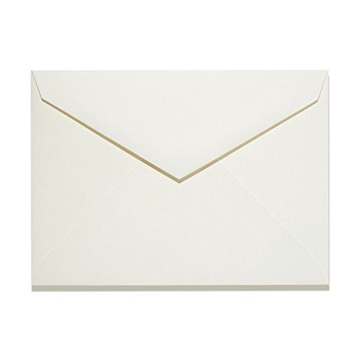 Natural A7 Size LEE Baronial Pointed Flap Envelopes (7 1/4