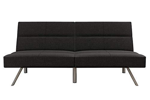 DHP Studio Convertible Futon Couch, Grey Linen