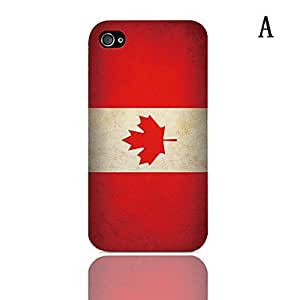 Vintage The Mexican Flag Pattern Hard Case with 3-Pack Screen Protectors for iPhone 4/4S , B