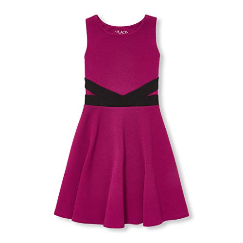 Young Girls Dress (The Children's Place Big Girls Sleeveless Pleated Dress, Rose Parade, M)