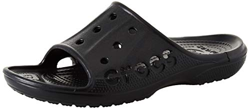 Crocs Unisex Baya Slide,Black, 12 M US Men / 14 M US Women