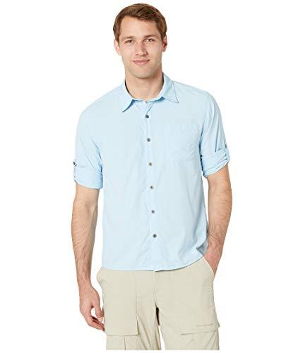 Rock Finish Sierra - White Sierra Men's Bug Free Kalgoorlie Cool Touch Long Sleeve Shirt Cool Blue X-Large
