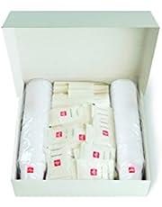 illy 949856 - Kit 100 Bicchieri di caffè + 100 cucchiaini + 100 Buste di Zucchero