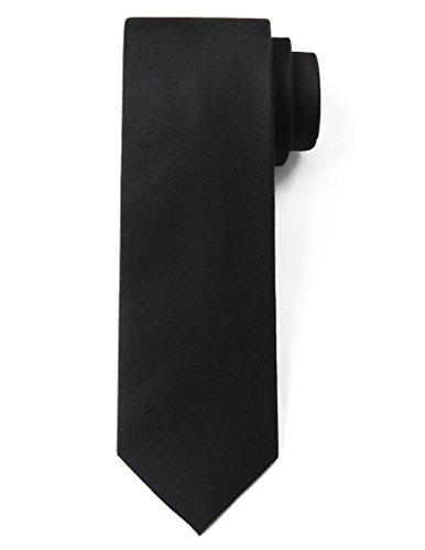 Origin Ties 100% Silk Textured Solid Color Men's Skinny Tie 3'' Necktie