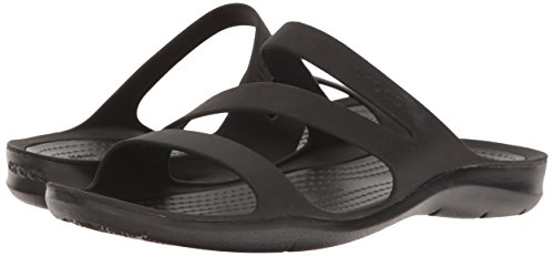 318EArrlgxL Crocs Women's Swiftwater Sandal, Black/Black, 9 M US
