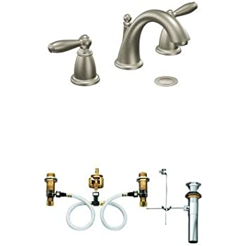 Moen T6125BN Kingsley Two-Handle High Arc Bathroom Faucet