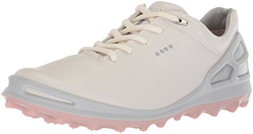 ECCO Women's Cage Pro Gore-Tex Golf Shoe, White/Silver Pink, 6 M US