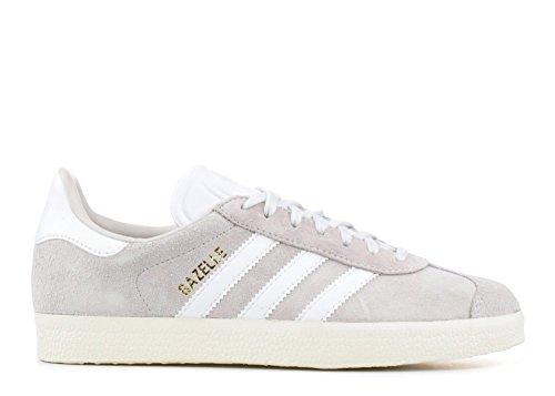 Adidas Menns Gazelle, Krystallklar Hvit / Fottøy Hvit / Hvit, 4 M Oss