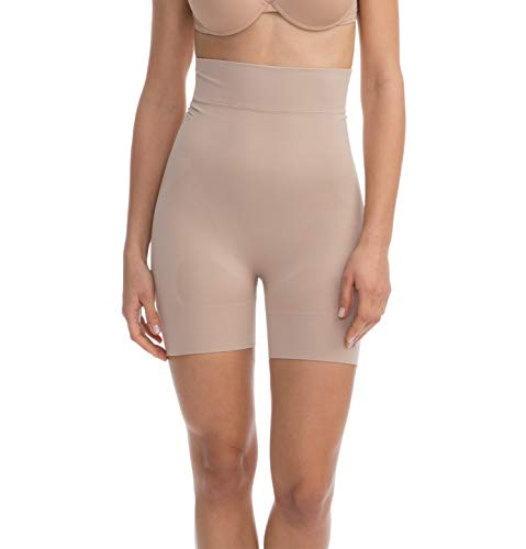 - FarmaCell Shape 602 (Nude, M) Women's high-Waisted Shaping Control mid-Thigh Shorts with Flat Belly Effect
