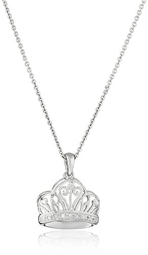 Diamond Accent Crown Necklace - 1