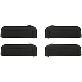 Rear Left Driver Side Exterior Door Handle for 04-11 Endeavor Textured Black