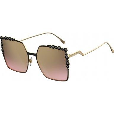 Fendi Women's Square Sunglasses, Black/Brown, One Size