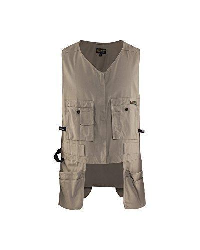 Blaklader Workwear Bantam Kangaroo Vest, XLarge - 8-Ounce Cotton - Stone