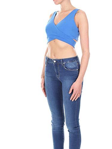 2382blue Coton Bleu Top Numero00 Femme tsxBQrdhC