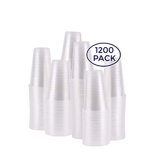A World Of Deals 7 oz. Plastic Cups, Bulk - 12 Packs of 100 (1,200/Case)