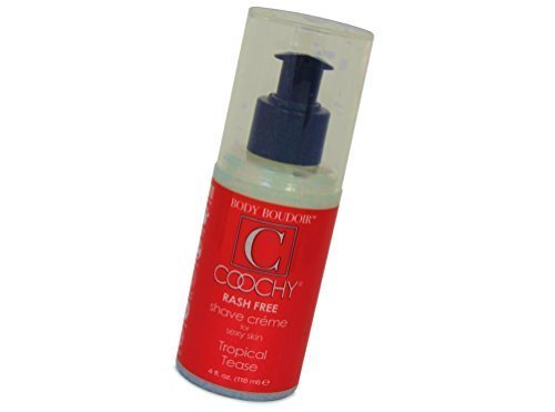 - Coochy Water Based Shave Cream Skin Protection Tropical Tease (Safe for All Body Parts Including Face and Intimate Areas) - Size 4 Oz