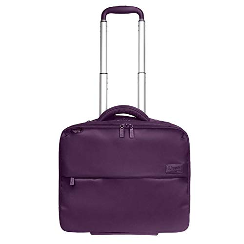 """Lipault - Plume Business Rolling Tote - 15.6"""" Laptop Wheeled Briefcase Bag for Women - Purple from Lipault"""
