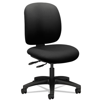 COMFORTASK MULTI-TASK CHAIR, SUPPORTS UP TO 300 LBS., BLACK SEAT, BLACK BACK, BLACK NYLON BASE