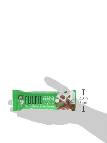 Fulfil Milk Chocolate & Mint Vitamin and Protein Bar - Pack of 15 by Fulfil (Image #8)
