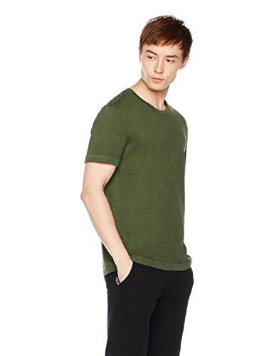 Large Garment (Something for Everyone Men's Classic Short Sleeve Garment Dye Crewneck T-Shirt Large Kombu Green)