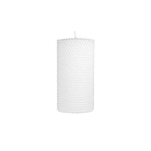 Dot Unity Candle Set (Mega Candles Unscented White Round Pearl Pillar Candle | Hand Poured Premium Wax Candles 3