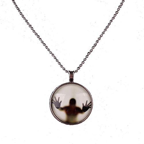 Noctilucent Halloween Cabochon Glass Art Pendant Necklace Chain ()