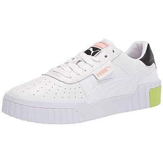 PUMA womens Cali Sneaker, Puma White-nrgy Peach, 8 US