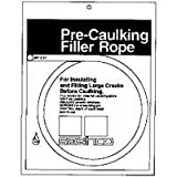 Sashco Pre-Caulking Filler Rope Backer Rod Roll, 50' Length x 3/4'' Width, Grey