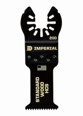 Imperial Blades IBOA200-1 Oscillating Tool Blade, Fast Wood HCS, 1.25-In. - Quantity 25