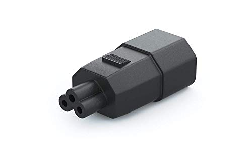 Lcd Mouse - Pwr IEC 60320-C14 3-Pin Female Plug to IEC 60320-C5 3-Slot Male Connector Adapter Monitor TV LCD Power Cable to Mickey Mouse Laptop Receptacle Converter