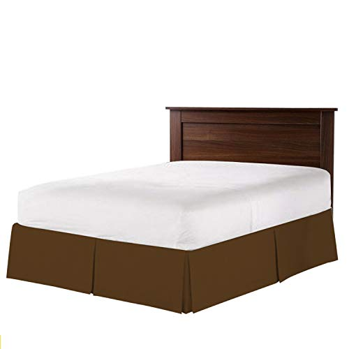 - Hotel Luxury Collection 1800 Series 16 Inch Drop Length (Queen, Chocolate) Bed Skirt with Box Pleats and Split Corners - Brushed Microfiber Wrinkle & Fade Resistant By Universal Bedding