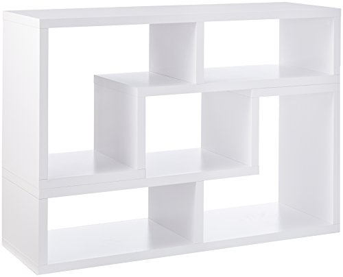 Convertible TV Console and Bookcase Combination White