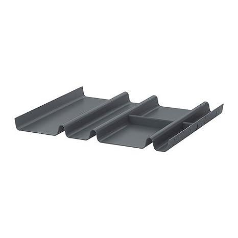 IKEA SUMMERA - Cajón inserto con 6 compartimentos, antracita - 44x37 cm: Amazon.es: Hogar