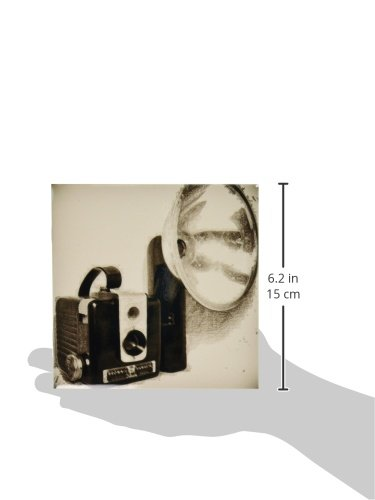 3dRose ct/_20728/_2 Picture of a Vintage 1950S Camera with Bulb Flash-Ceramic Tile 6-Inch