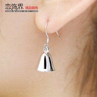 Love jewelry industry genuine cute little bell earrings 925 sterling silver earrings earrings women girls models genuine 266 sterling silver - 925 Silver Sterling Bells