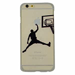 iPhone 6 Case, WBowen Basketball Series of Slam Dunk Pattern PC Hard Transparent Back Cover Case for iPhone 6