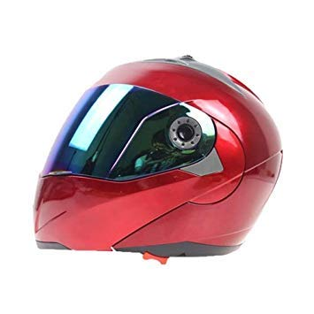 Uniqus JIEKAI 105 Full Face Helmet Electromobile Motorcycle Double Lens Predective Helmet, Size  L(Red+color)