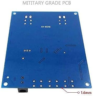 120W2 ARCELI XH-M548 Amplificateur de Puissance num/érique Bluetooth TPA3116D2 bicanal 240W avec /étui Acrylique Carte dampli Audio sans Fil