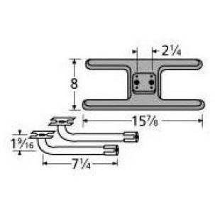 Music City Metals 20902-78002 Cast Iron Burner Replacement for Select MHP and PGS Gas Grill Models by Music City Metals