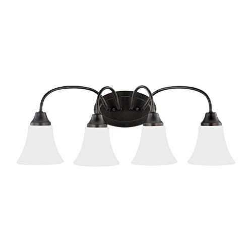 Sea Gull Lighting 44808-782 Holman Vanity, 4-Light 240 Total Watts, Heirloom Bronze by Sea Gull Lighting
