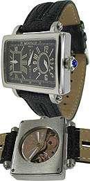 Montale Herren-Armbanduhr Analog Automatik Leder MO-MT200226-SS