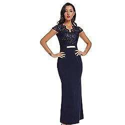 Style 4 - Blue Vintage Elegant Cocktail Dress