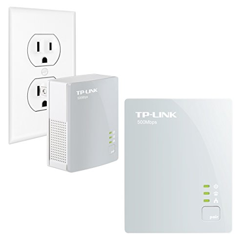 Line Network Adapter (TP-Link AV500 Nano Powerline Adapter Starter Kit, up to 500Mbps)