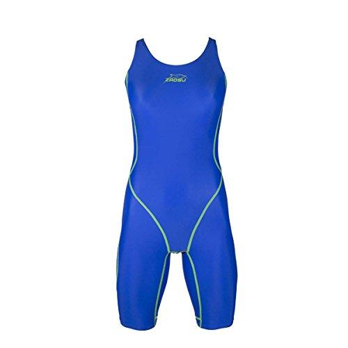ZAOSU Wettkampf-Schwimmanzug Z-Blue für Mädchen und Damen in blau, Größe:140