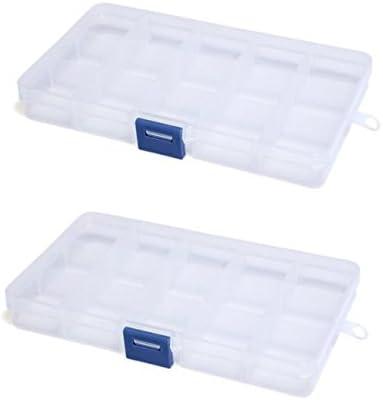 2 x Organizador Caja Plastico Almacenaje para Cosmetica Lenceria ...