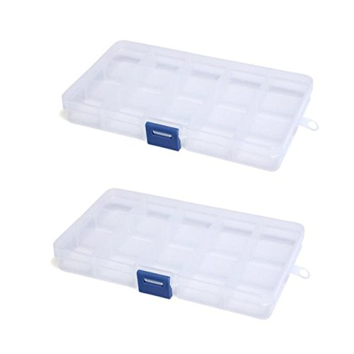 Amazon.com: Storage Box - TOOGOO(R) 2pcs Storage Box 15 Compartments for Jewelry Pill: Home & Kitchen
