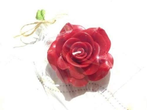12-Piece Folding Candles , 3-Inch, Red Rose Romantic by Thai decorated
