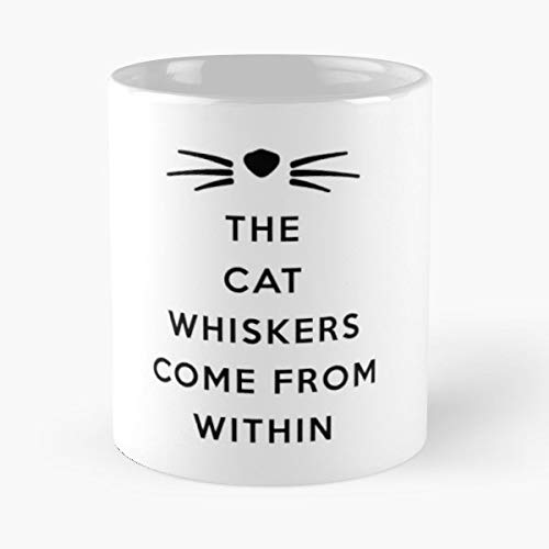 Cat Kitty Whiskers - Coffee Mugs Unique Ceramic Novelty Cup For Holiday Days 11 Oz.